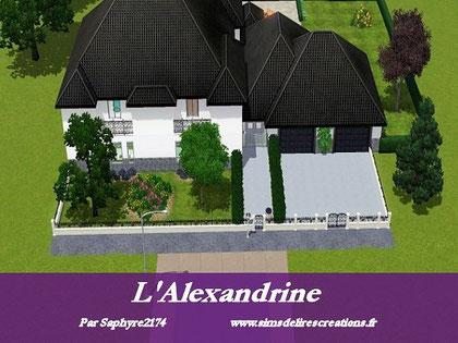 simsdelirescreations Sims sims3  moderne l'Alexandrine maison creation saphyre2174