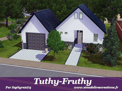 simsdelirescreations Sims sims3 moderne Tuthy-Fruthy maison creation saphyre2174