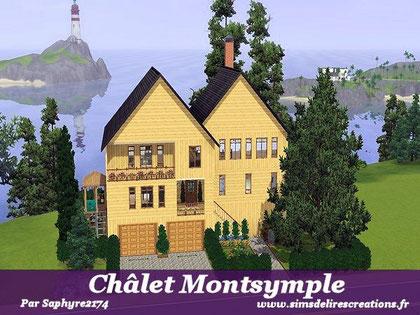 Simsdelirescreations Sims sims3 châlet montsymple maison creation saphyre2174