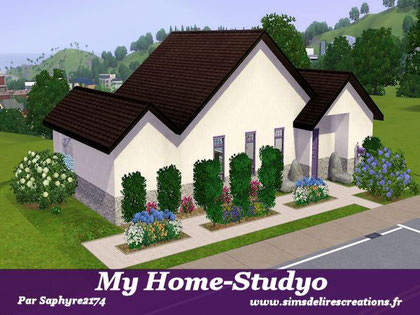 simsdelirescreations Sims sims3  moderne my home-studyo maison creation saphyre2174