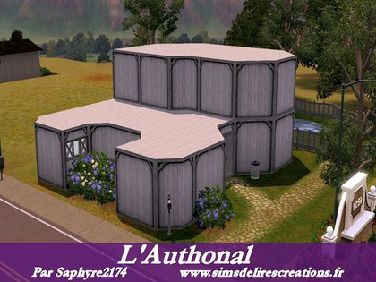 simsdelirescreations Sims sims3  l'Authonal maison creation saphyre2174