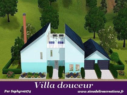 simsdelirescreations Sims sims3  moderne villa douceur maison creation saphyre2174