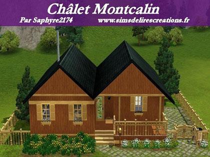 Simsdelirescreations Sims sims3 châlet montcalin maison creation saphyre2174