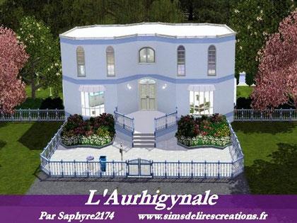 simsdelirescreations Sims sims3  l'Aurhigynale maison creation saphyre2174