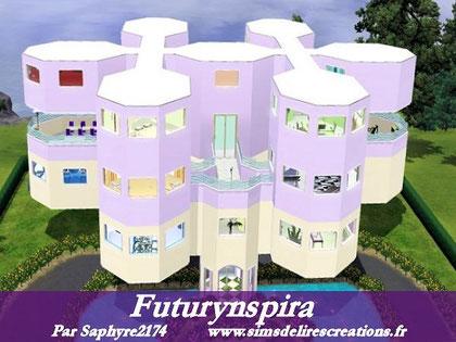 simsdelirescreations Sims sims3 Futurynspira maison creation saphyre2174