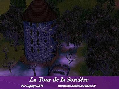simsdelirescreations Sims sims3  Tour de la Sorcière maison creation saphyre2174
