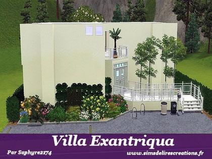 simsdelirescreations Sims sims3  moderne villa exantriqua maison creation saphyre2174