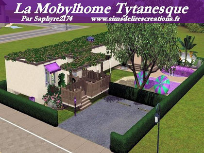 Simsdelirescreations Sims sims3 mobylhome Tytanesque maison creation saphyre2174