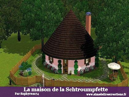 simsdelirescreations Sims sims3  Schtroumpfette maison creation saphyre2174
