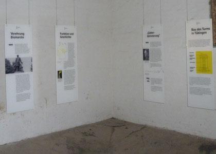 Bild: Ein Blick auf die neue Ausstellung im Bismarckturm © Sarah Huber.