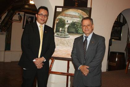 Miguel Moreira junto al maestro Guillermo Fernández.