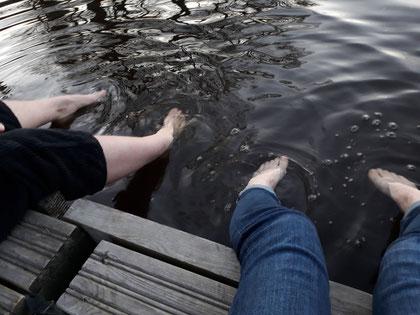 Fußwaschung im Fyris