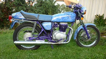 Werbe -Motorrad