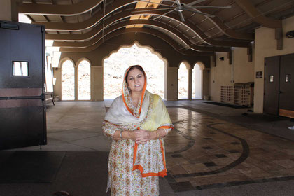 Saranjit Saini built the temple in memory of her late husband, Dr. Jasbir Singh Saini