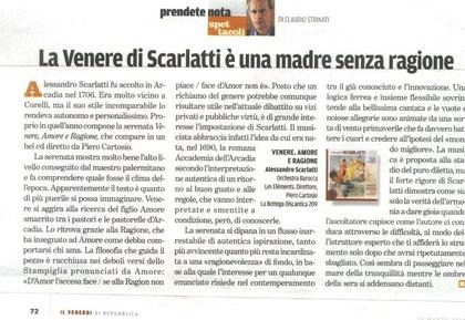 Il Venerdì di Repubblica 19 marzo 2010