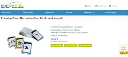 Planning Poker Karten kaufen