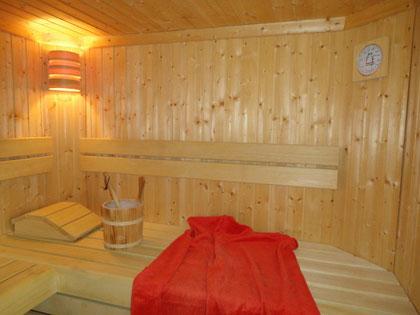 Gemütliche Stunden in der hauseigenen Sauna