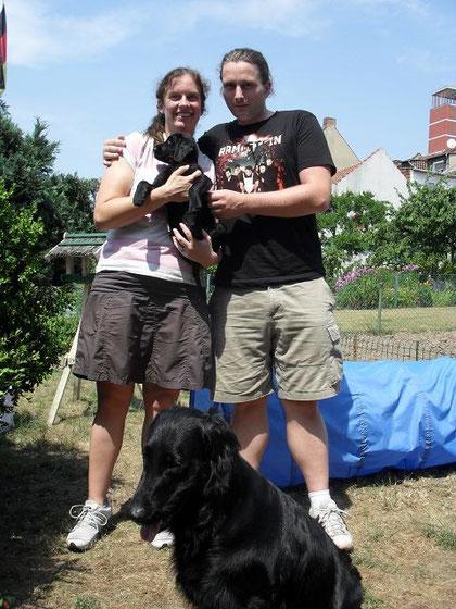 Oscar mit Kirsten und Lars