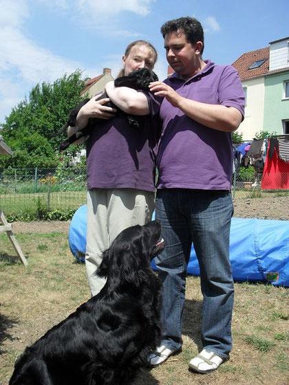 Luca mit Stephanie und Sebastian