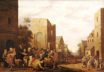 J.C.Drochsloot, Sieben Werke der Barmherzigkeit 1647, Ankauf von Altmeister-Gemälden