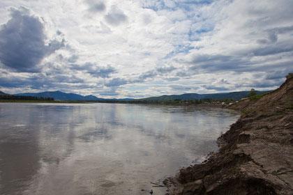 Der gerade mal ca. 90 Einwohner zählende Ort Eagle am Yukon River/Alaska, kurz nach der verheerenden Naturkatastrophe 2009!