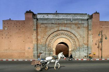 Das alte Stadttor von Marrakech, Bab Agnaou (1185-1190)