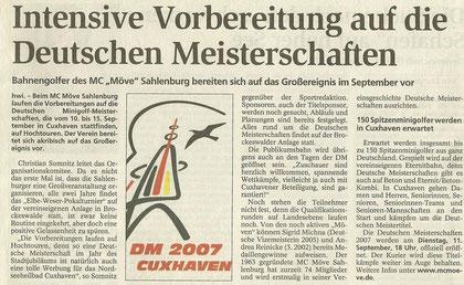 Artikel aus den Cuxhavener Nachrichten vom 12.06.2007