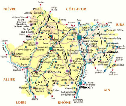 Saône et Loire - Südburgund