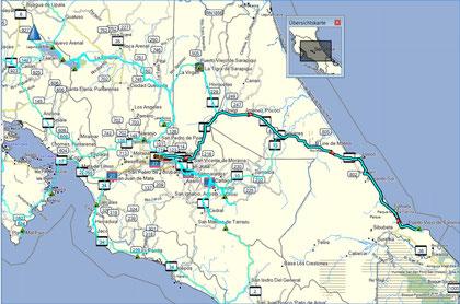 Der Weg von Alajuela an die Karibik