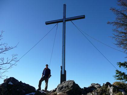Am Gipfel der Kreuzelspitze