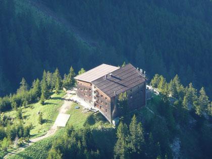 Das Gimpelhaus von oben