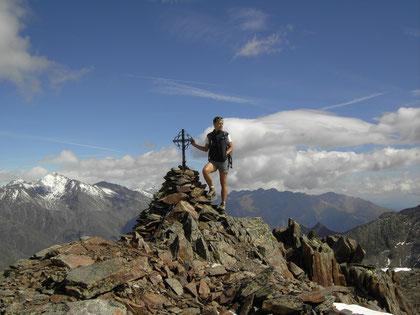 Am Gipfel des Kortscher Schafberg