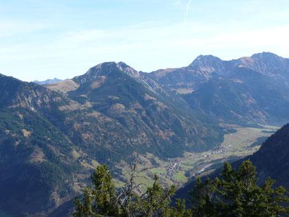 Blick vom Imberger Horn auf Bschießer Ponten Geißhorn Rauhorn