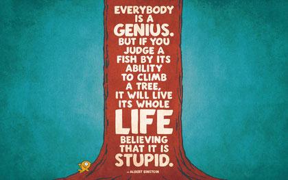 Einstein-Zitat zu Genies!