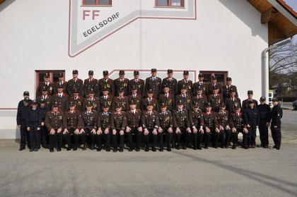 Mannschaftsfoto der FF Egelsdorf 2012