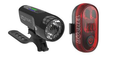 """Frontleuchte """"BLC 620"""" mit automatischer Helligkeitsanpassung, das Bremslicht """"Micro Lens"""" macht Radfahren sicherer."""