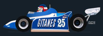Patrick Depailler by Muneta & Cerracín - Ligier JS11 - Ford Cosworth V8