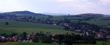 Blick auf Ober-/ Niederottendorf