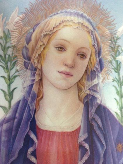 古川未央子さんの百合の聖母