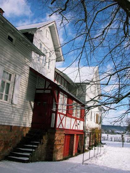 Das Otto-Ubbelohde-Haus im Schnee. Foto: Michael Agricola