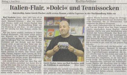 Gerrit Fischer, Autor aus Bad Nauheim, weiß das Publikum zu unterhalten.