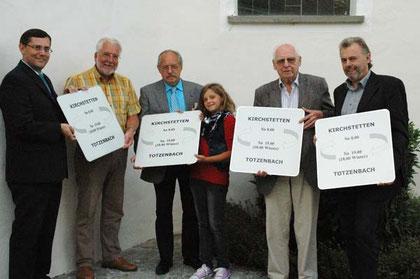 Bgm. a.D. Johann Dill, Bgm. Paul Horsak, Karl & Sophie Mayerhofer, Leopold Wanderer, GGR. Johann Alt