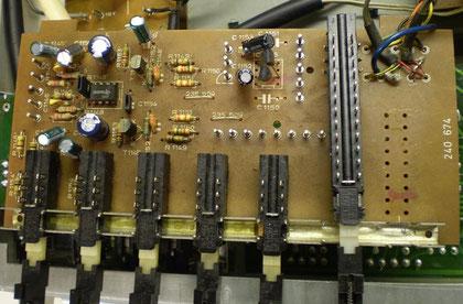 Eingangswahlschalterplatine CV 1400 Monitor Schalter ausgelötet