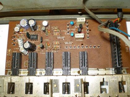 Eingangswahlschalterplatine CV 1400 verbastelt
