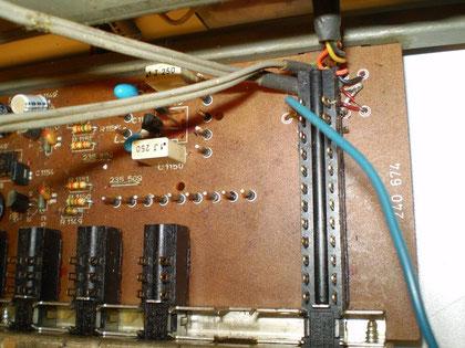 Eingangswahlschalterplatine CV 1400 Monitorschalter