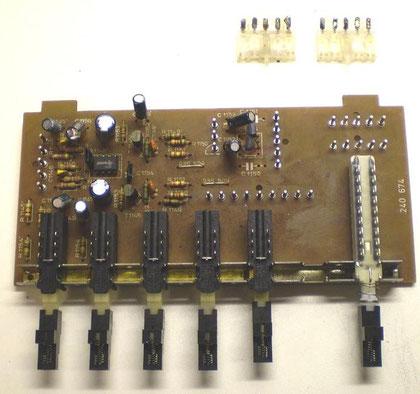 Eingangswahlschalterplatine CV 1400 mit Steckern
