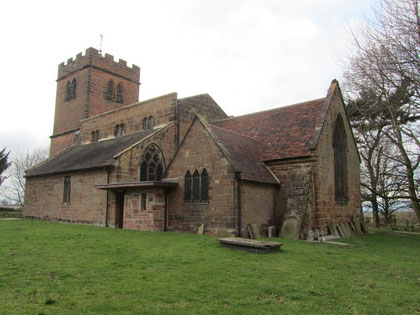The chancel (right) is the oldest part of the building and dates from c1200. It very likely stands on the site of the original Anglo-Saxon church.