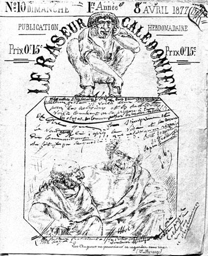 LE RASEUR CALEDONIEN - N° 10 du  8 AVRIL 1877