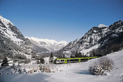 "The ""Lötschberger Panoramic Train"" brings you to Kandersteg"