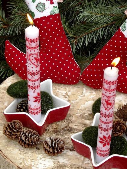 hübsche #Dekoration zu #Weihnachten; kann man auch selber mit den #Kindern nähen